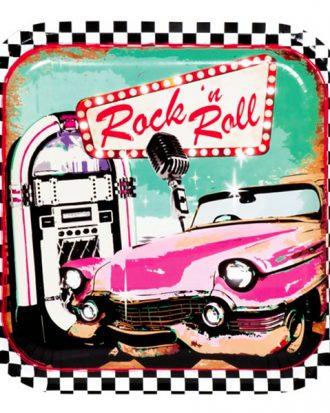 Papperstallrikar 50-tals Rock'n'Roll - 6-pack