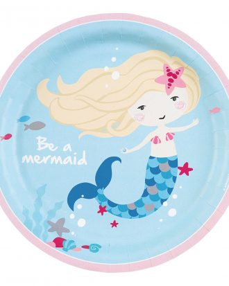 Papperstallrikar Be a Mermaid - 8-pack