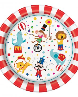 Papperstallrikar Cirkus - 8-pack