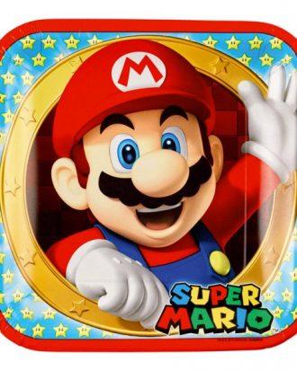 Papperstallrikar Super Mario - 8-pack