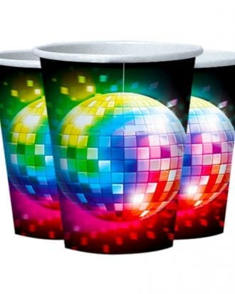 Pappersmuggar 70-tal Disco - 8-pack