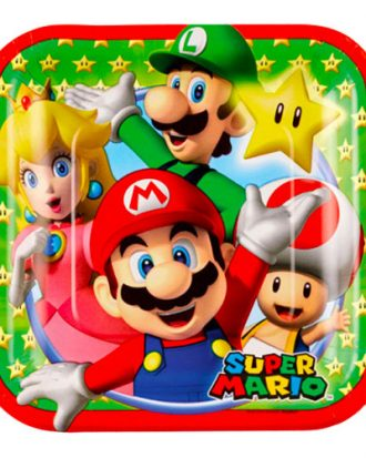 Pappersassietter Super Mario - 8-pack