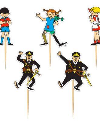 Partypicks Pippi Långstrump - 10-pack