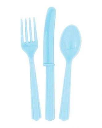 Plastbestick Ljusblå - 18-pack