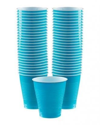 Plastmuggar Turkosa - 50-pack 473 ml