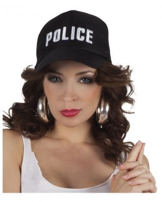 Keps Police Svart - One size