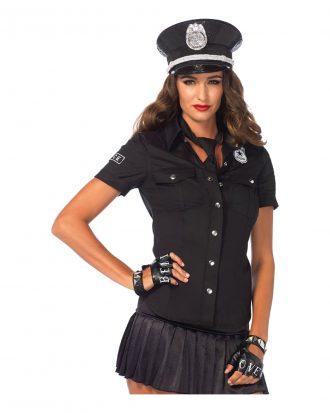 Poliskjorta med Slips Dam Deluxe - Large