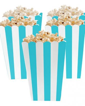 Popcornbägare Turkos Randiga - 5-pack