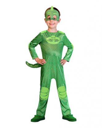 Pyjamashjältarna Gecko Barn Maskeraddräkt - Large