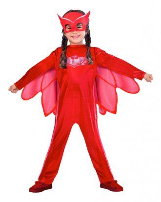 Pyjamashjältarna Ugglis Barn Maskeraddräkt - Large