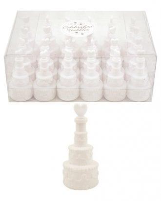 Såpbubblor Bröllopstårta - 24-pack
