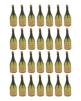 Såpbubblor Champagneflaska Grön - 24-pack