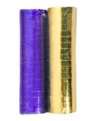 Serpentin Blå/Guld - 2-pack