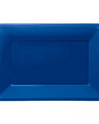 Serveringsfat i Plast Rektangel Mörkblå - 3-pack
