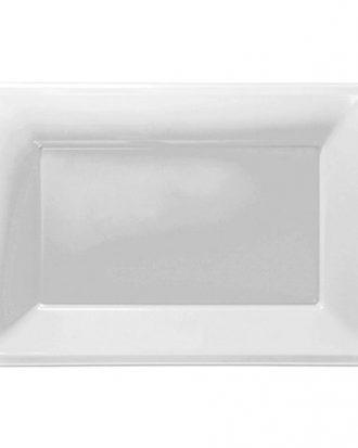Serveringsfat i Plast Rektangel Vit - 3-pack