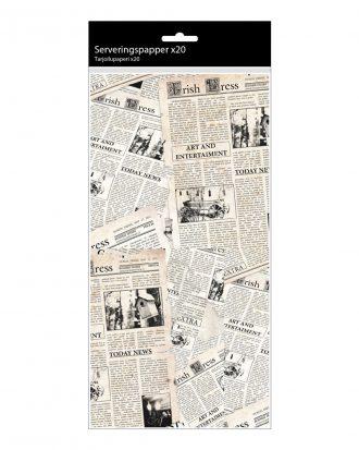 Serveringspapper Tidningspapper - 20-pack