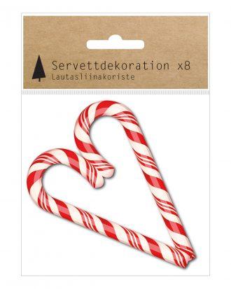 Servettdekoration Polkagrishjärta - 8-pack