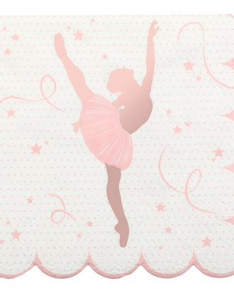 Servetter Ballerina Rosa/Vit