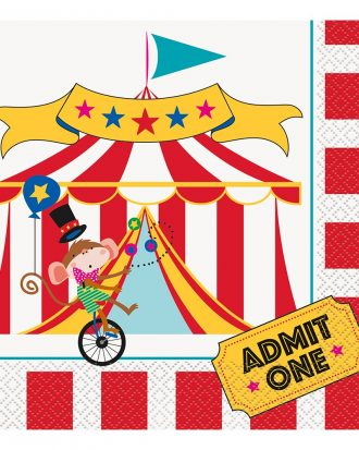 Servetter Cirkus - 16-pack