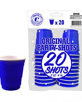 Shotglas Blå - 20-pack