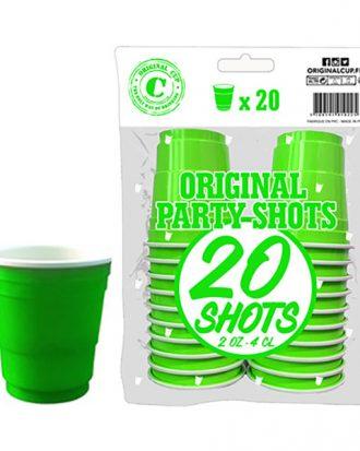 Shotglas Grön - 20-pack