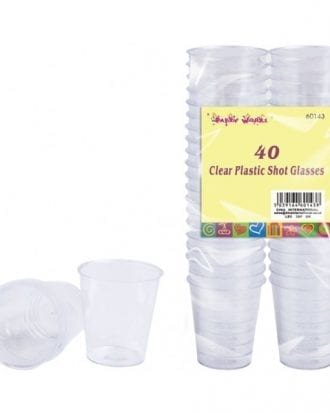 Shotglas i Plast - 40-pack