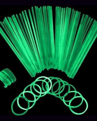 Självlysande Armband - 100-pack Gröna