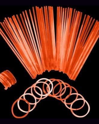 Självlysande Armband - 100-pack Orange