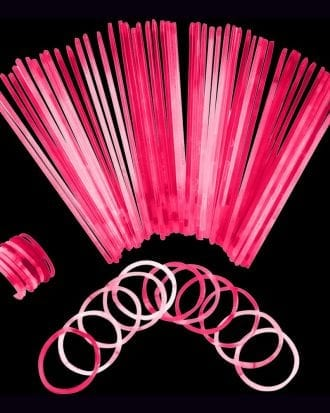Självlysande Armband - 100-pack Rosa