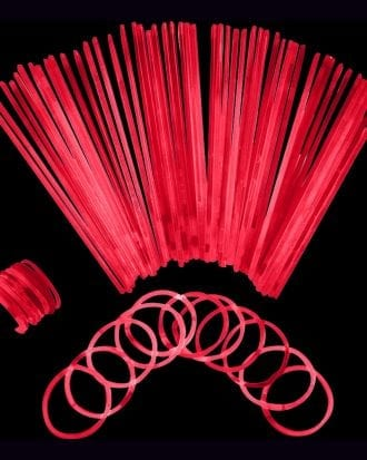 Självlysande Armband - 100-pack Röda