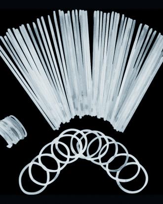 Självlysande Armband - 100-pack Vita