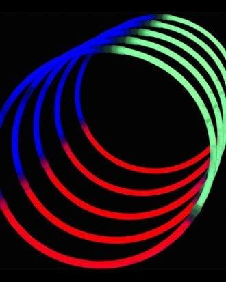 Självlysande Halsband (Tri-color) - 50-pack