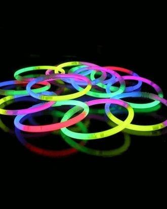 Självlysande Armband (Tri-color) - 100-pack