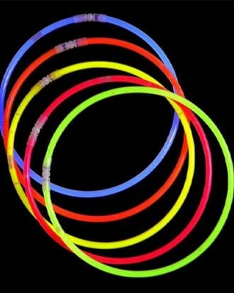 Självlysande Halsband - 50-pack Blandade