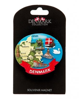 Souvenir Denmark Karta Magnet