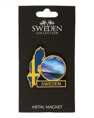 Souvenir Kylskåpsmagnet Sweden Northern Lights