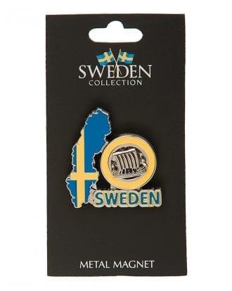 Souvenir Sweden Karta Magnet