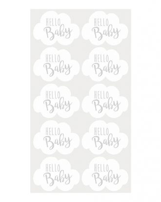Stickers Hello Baby - 10-pack