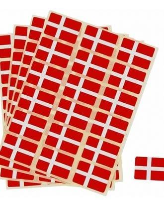 Stickersflaggor Danmark - 72-pack