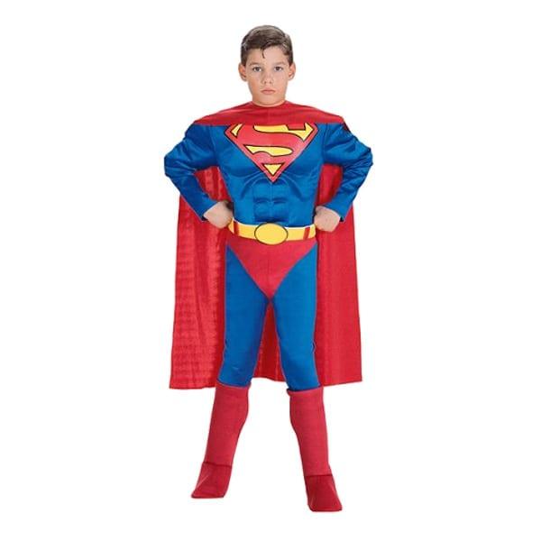 Superman med Muskler Barn Maskeraddräkt - Large