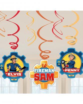 Swirls Brandman Sam Hängande Dekoration - 6-pack