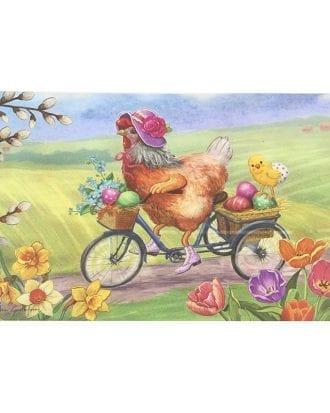 Bordstablett Höna på Cykel