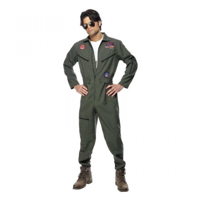 Top Gun Jumpsuit Maskeraddräkt - Medium