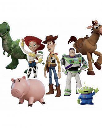Toy Story Bordsdekorationer i Papp - 7-pack