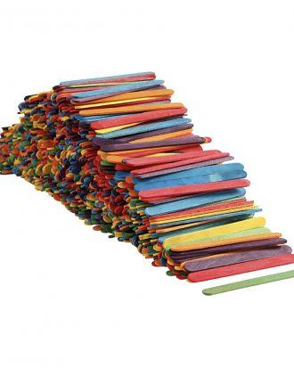 Glasspinnar Flerfärgade - 1000-pack