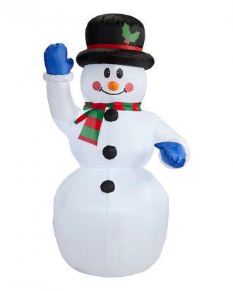 Uppblåsbar Snögubbe med Belysning