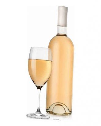 Vitt Vin med Glas Kartongfigur