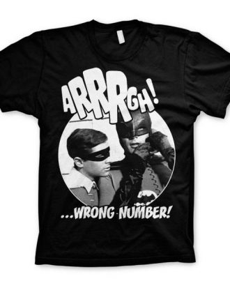 Batman Arrrgh - Wrong Number T-Shirt Svart