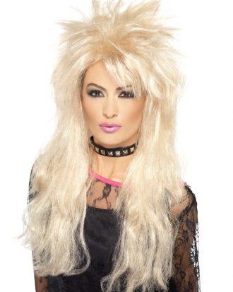 80-tals Peruk Lång Blond