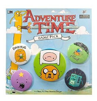 Adventure Time Badges 5-pack